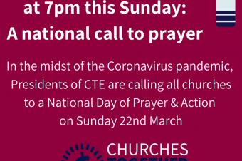 Light a Candle of Hope invitation: A call to prayer re. Coronavirus Pandemic on 22nd March @7pm